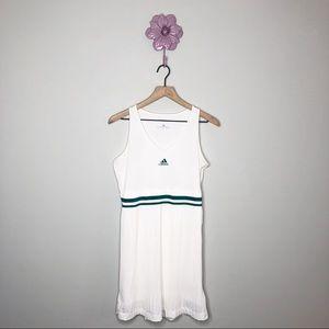 Adidas AdiPure White / Teal Accordion Pleat Dress